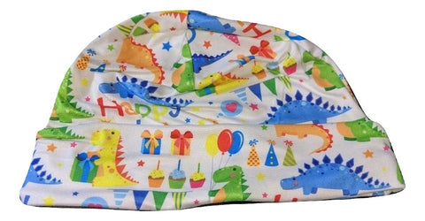 HAPPY BIRTHDAY DINOSAUR Matching Adult Newborn Baby Hat Cap