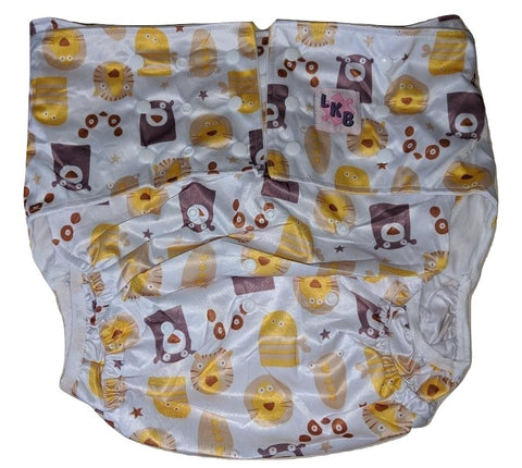 Bears Lions Tigers Pocket DIAPER