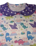SHORT SLEEVE Pastel Dinosaurs Matching Dress Shirt