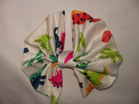DISCONTINUED DINOSAUR MATCHING Boutique Fabric Hair Bow