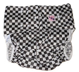 Black & White Checkers Pocket DIAPER