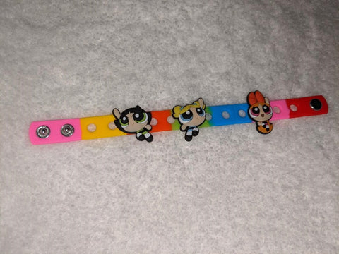 90'S CARTOON PPG  New Super Cute Silicone Jibbiz Bracelet