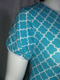 Onesie DISCONTINUED Short Sleeve Lil Moroccan Blue Onesie Clearance