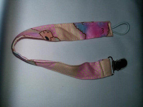 COTTON CANDY LLAMAS Matching Fabric Pacifier Clips Clearance