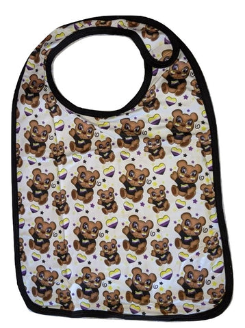 Non Binary Bear Matching Bib Print Designed by @QueenPinPrincess