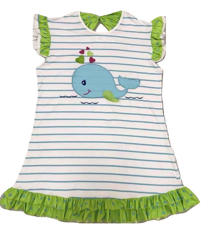 DISCONTINUED Whale Dress Night Gown Shirt Clearance xxs - xs - s only