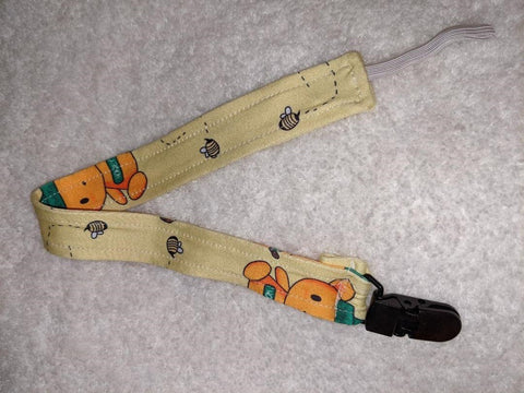 Hunny Bunny Matching Fabric Pacifier Clips