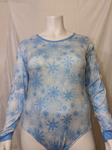 DISCONTINUED Snow Flakes Long Sleeve Bodysuit Onesie * LOOK OVER MEASUREMENTS * Clearance