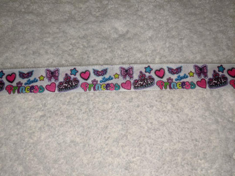 "Princess Themed Hand Crafted Pacifier Dummy Clip - 10""-12"""