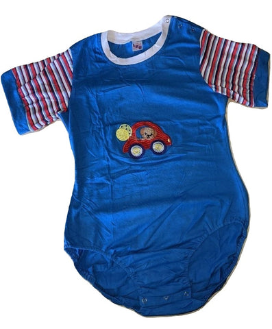 Short Sleeve Lil Car Cotton Onesie