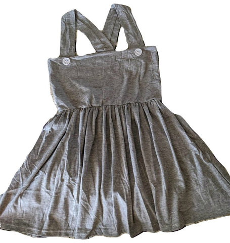 Suspender Grey Jumper Skirt Dress