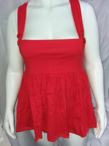 SUSPENDER DISCONTINUED Suspender Red Jumper Skirt Dress Clearance xs - s only