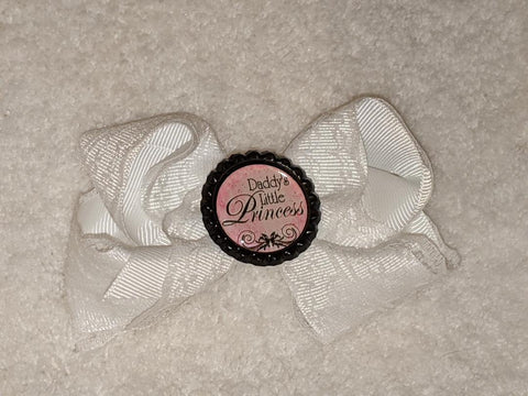 Daddy's Little Princess Bottle Cap Boutique Hair Bow
