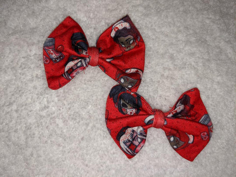NIGHTSHIFT NIGHTMARES NURSE Hair Bows 2pc Set