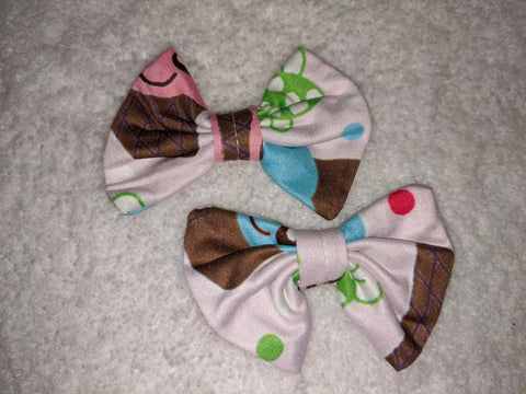 Lil' Sweets Matching Boutique Fabric Hair Bow 2pc Set
