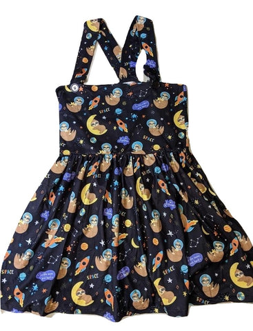 Suspender Slothes in Space Jumper Skirt Dress