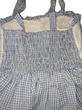 DISCONTINUED Baby Embroidered Blue/White Smock Halter Summer Dress * LOOK AT MEASUREMENT Clearance