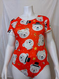 DISCONTINUED Holiday Bears Short Sleeve Bodysuit Onesie * LOOK OVER MEASUREMENTS * Clearance