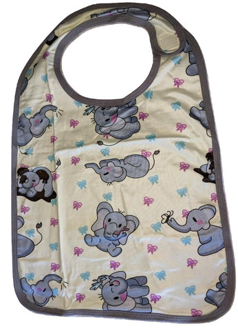 Ellie the Elephant Matching Bib Print Designed by cyan.red