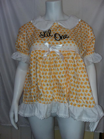 Embroidered Lil One Lil Ducky Dress