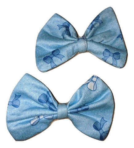 Lil Pretty Bows Matching Boutique Fabric Hair Bow 2pc Set