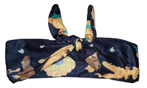 Hunny Bunny Black MATCHING Boutique Fabric Hairband Headband