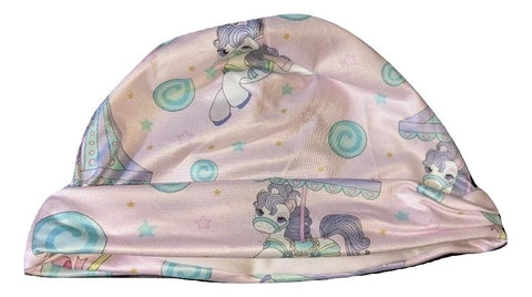 CAROUSEL PONIES Matching Adult Newborn Baby Hat Cap