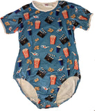 Short Sleeve Movie Night Onesie
