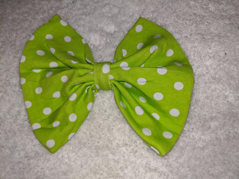 Halloween Spider Black & Green Dots MATCHING Boutique Fabric Hair Bow