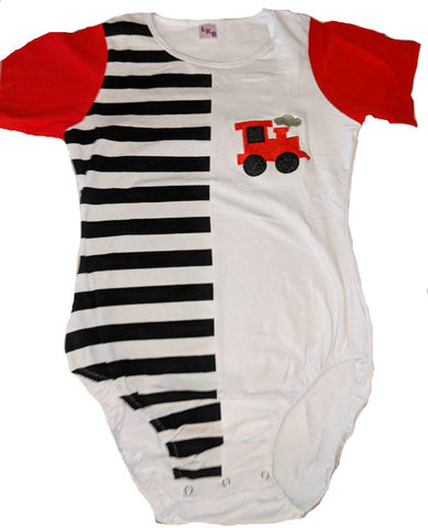 Short Sleeve Lil Train Cotton Onesie