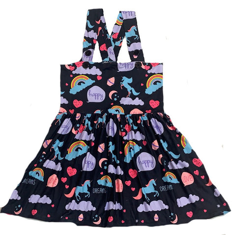 Suspender Happy Unicorn Jumper Skirt Dress