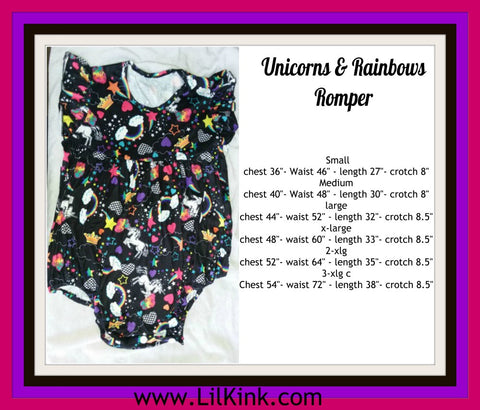 Unicorn & Rainbows Romper Onesie