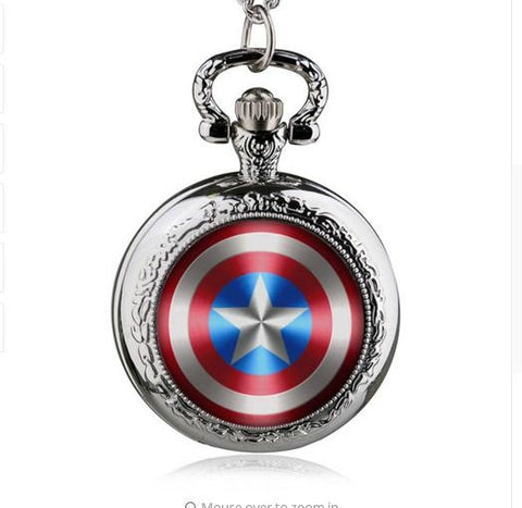 Captain Hero Necklace Pocket Watch