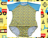 SHORT SLEEVE Lil Construction Vehicles Onesie