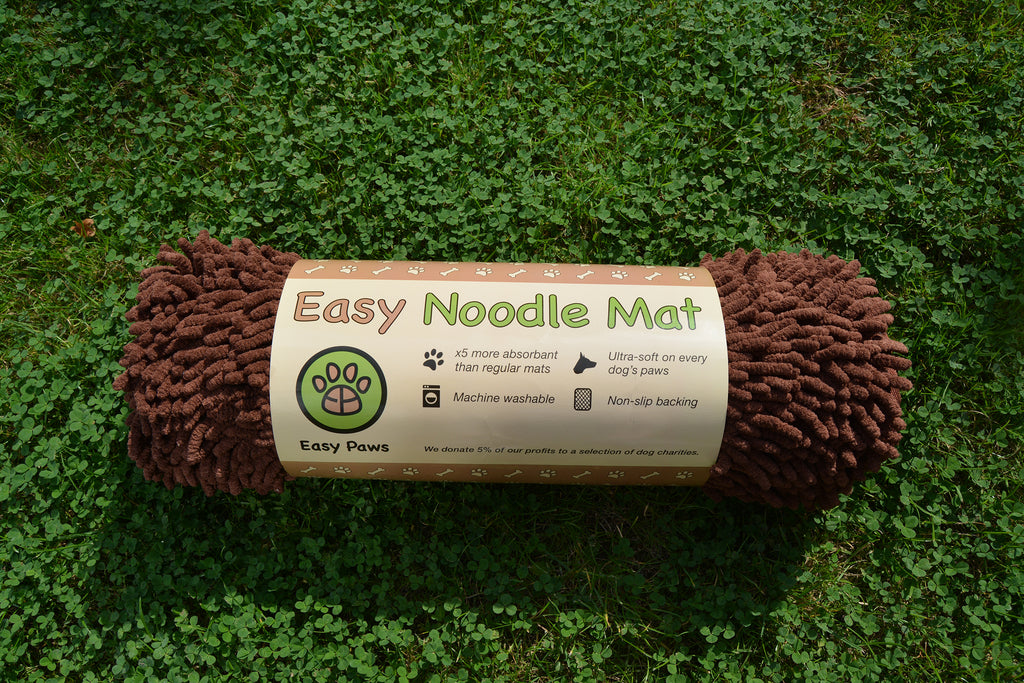 Easy Noodle Mat Rolled Soft Absorbent Brown Paws