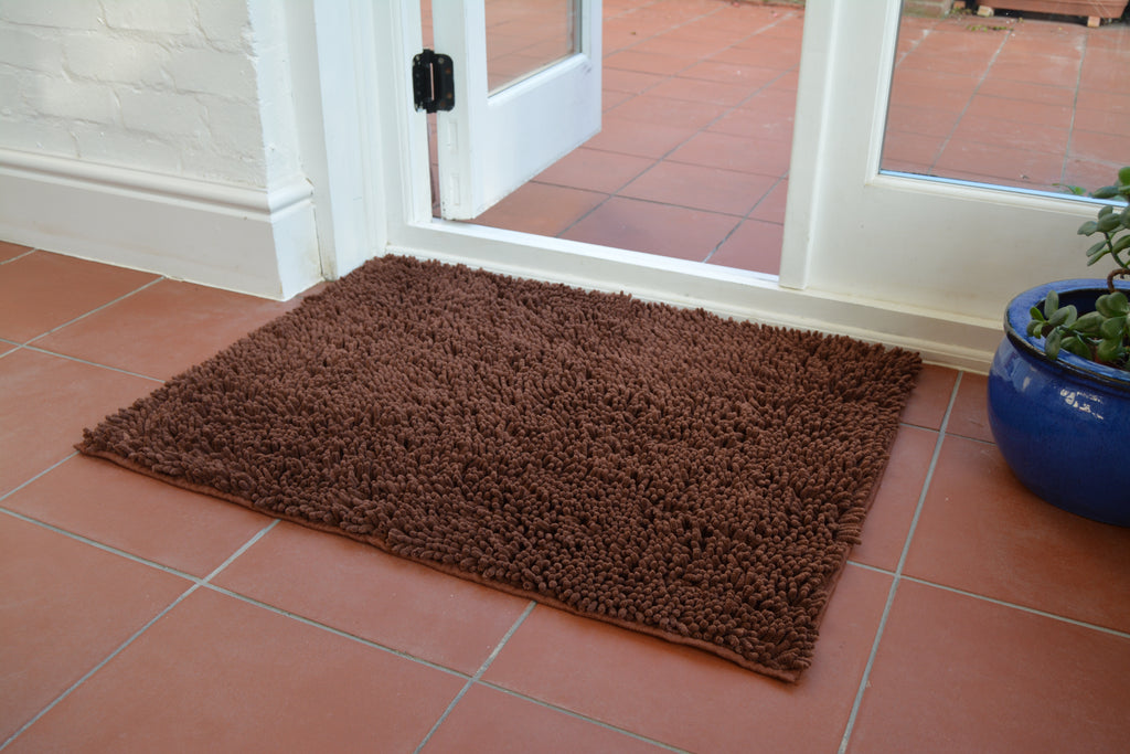 Easy Noodle Mat Dog Flat Chocolate Brown Absorbent Door
