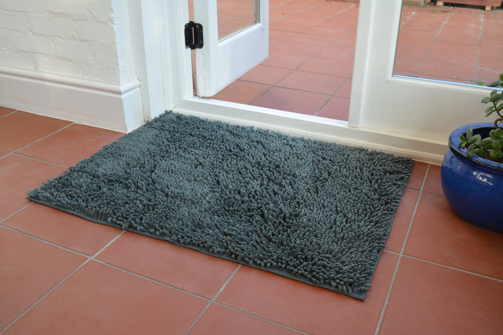 Easy Noodle Mat Dog Flat Steel Grey Absorbent Door