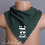 I'm The Little Brother Bandana Bib - bubbabibs