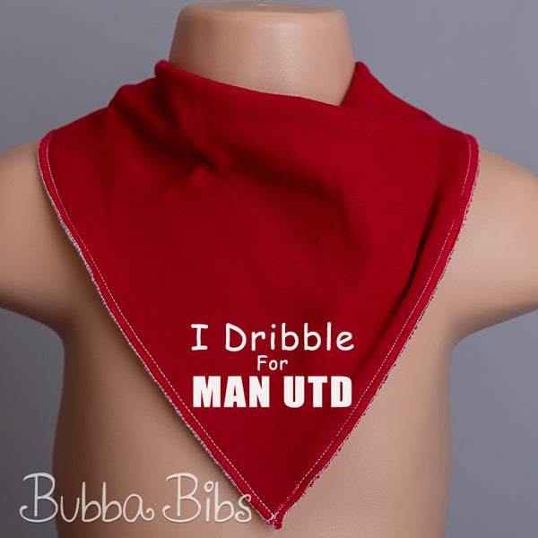 I dribble for Man United Football Bandana Bib - bubbabibs
