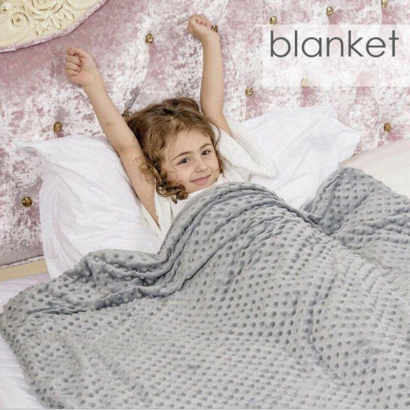 Premium Weighted Blanket Heavy Blankets Sensory Sleep Reduce Anxiety Cotton