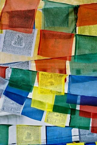 Bring in the blessings with Tibetan Prayer Flags