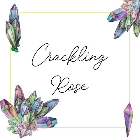 Crackling Rose Crystal Grid