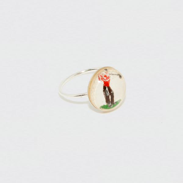 Bague cabochon illustration vintage Brigitte Tanaka