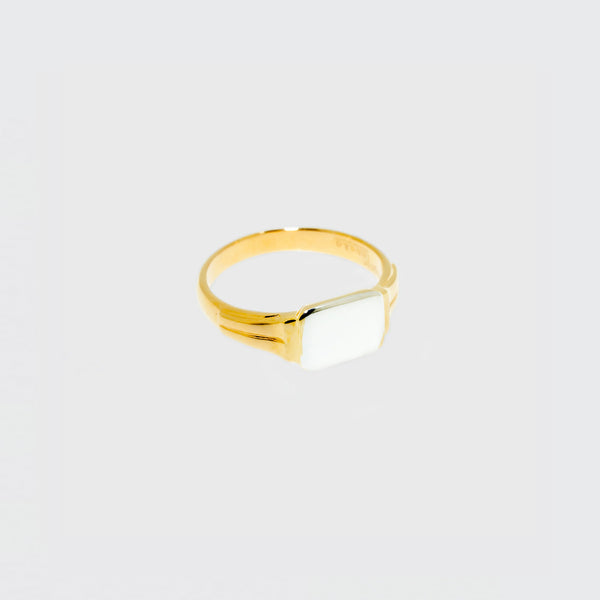Brigitte Tanaka gold and silver rectangular ring