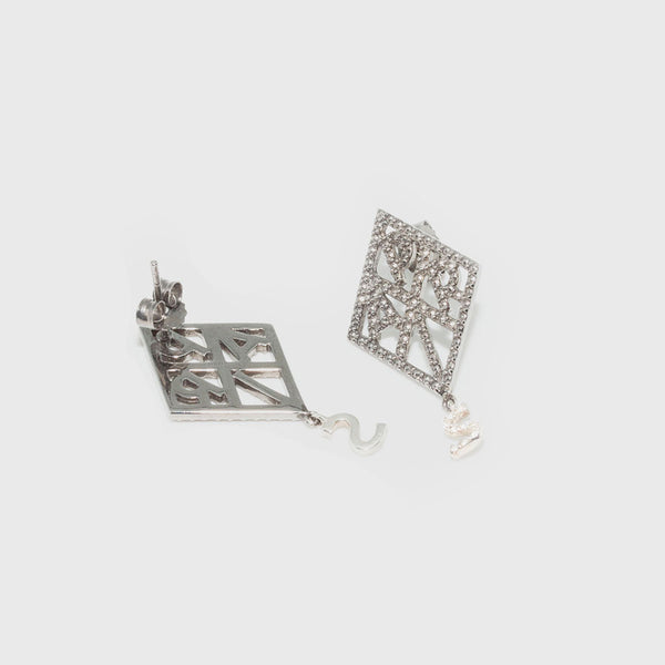 Paris earrings in silver and Brigitte Tanaka marcassites