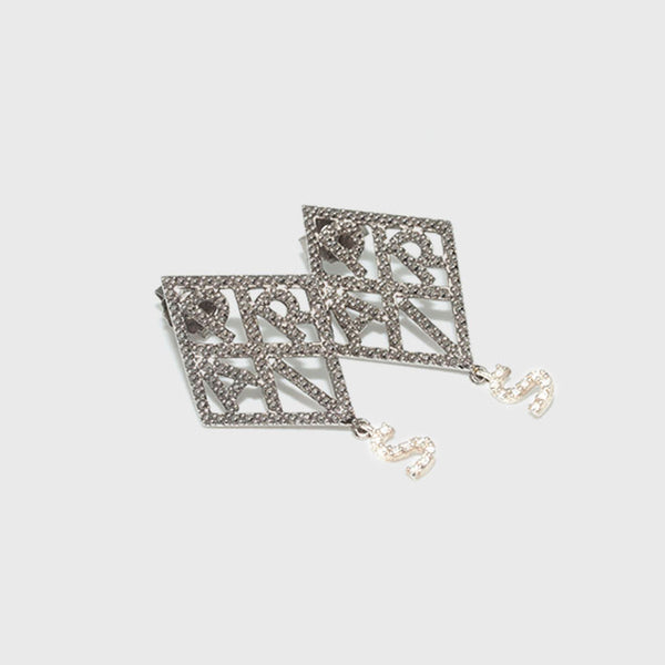 Brigitte Tanaka silver and marcasite earrings Paris