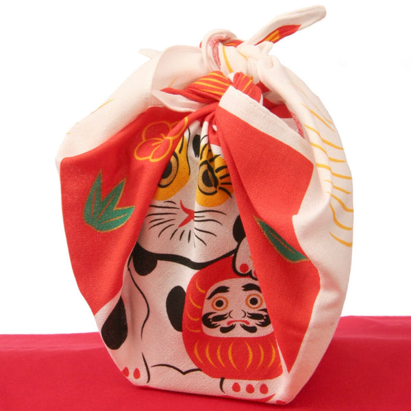 Furoshiki little Manekineko Cat