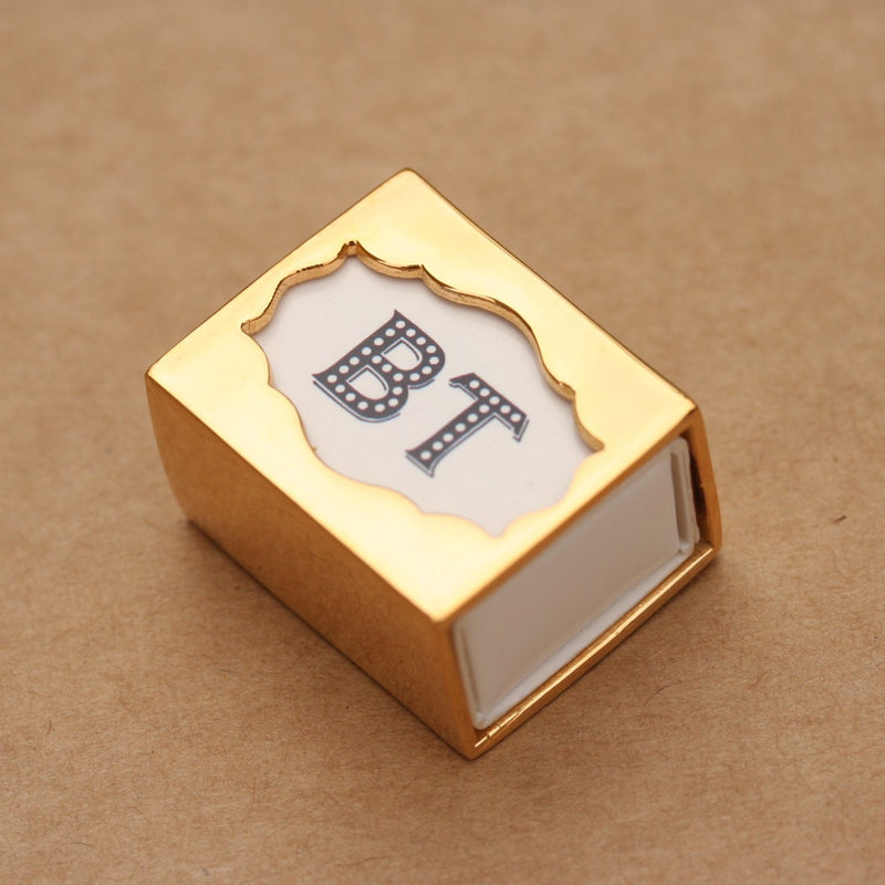 Mini match box holder- Brass