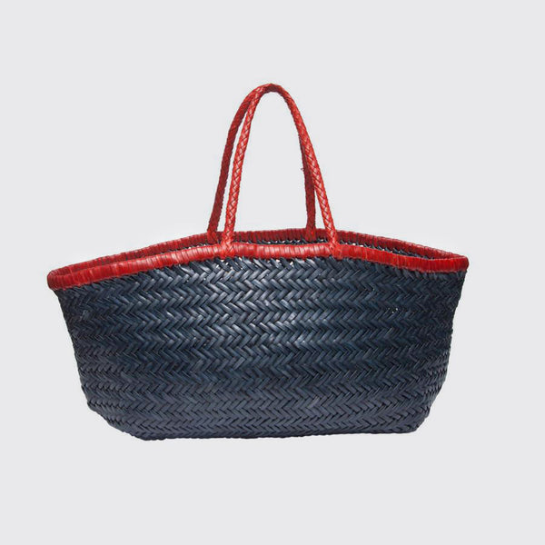 Sac à main cuir Dragon blu red