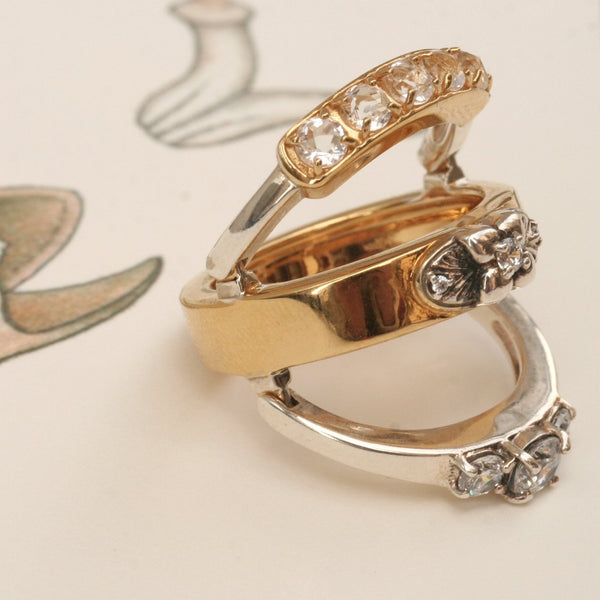 Ring reverse trio antique